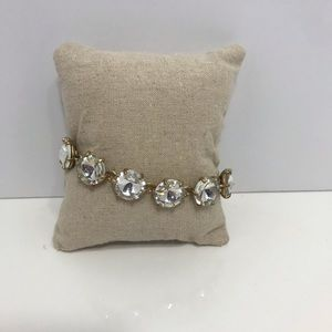 Stella dot gold and clear crystal bracelet